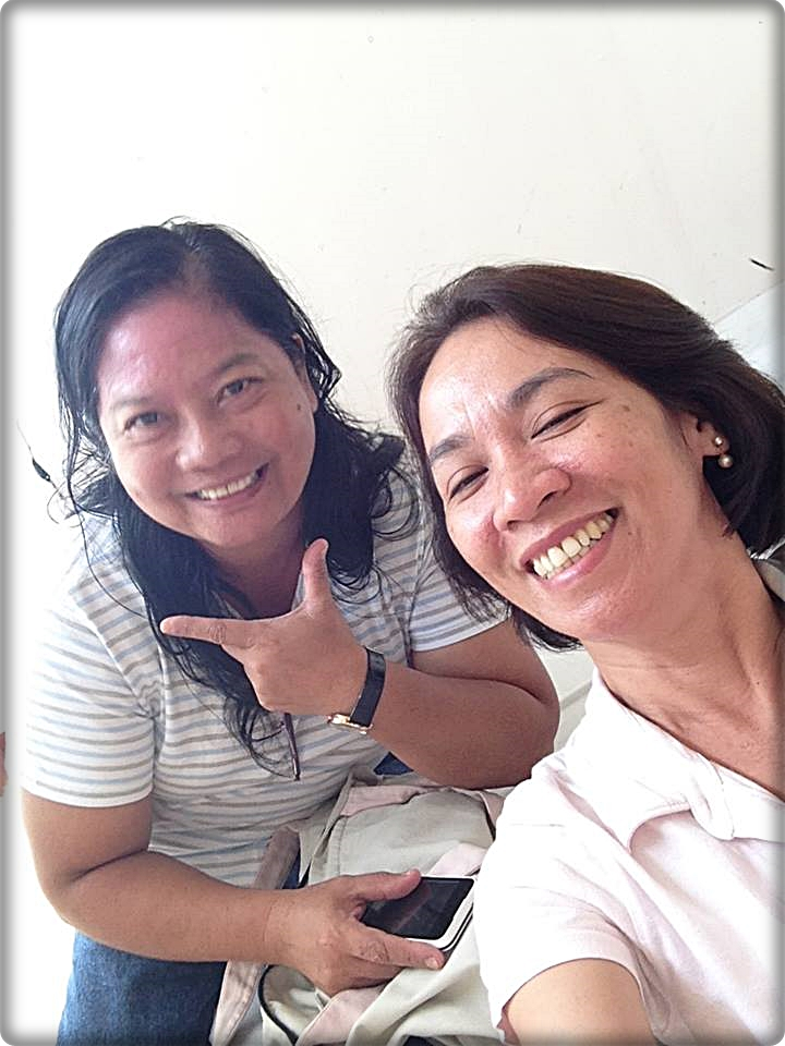 Miss Pepito (right) with my former Christian Life Education teacher Tasiana Cantago.